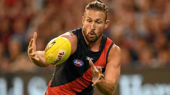 Cale Hooker of the Bombers.
