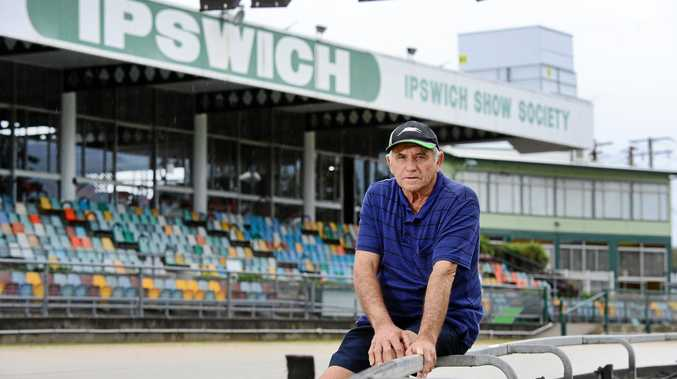 HELP US: Ipswich Greyhound Racing Club manager Merv Page wants a new one-turn track built in Ipswich.
