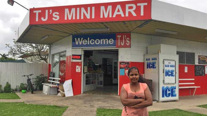 STILL WAITING: Nona Maber, the owner of TJ's Mini Mart is frustrated with the abandoned car that has sat out the front of her shop for nearly a month.