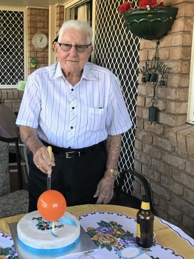 GOOD LIFE: Banora Point resident Merv Gibson celebrated his 90th birthday with family and friends.