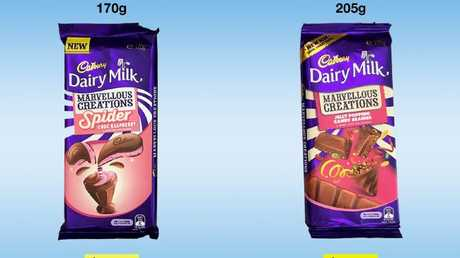 CHOICE chocolate bar comparison - Cadburys family block chocolate