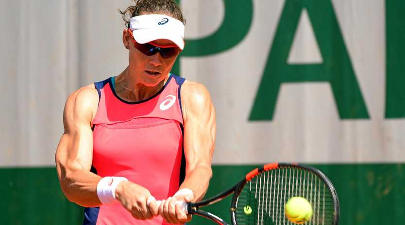 Samantha Stosur of Australia in action at the French Open.