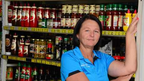 Glenden business owner Melissa Payne says the town is struggling to survive Photo: John Andersen
