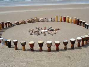 Fraser Coast Community Drum Circle. A fun, rewarding and relaxed session. All welcome. Cost: $10. Instruments provided. Book at www.musicpathways.com.au