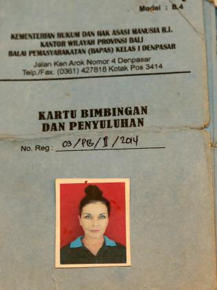 Schapelle Corby's parole book. Picture: Supplied Source:News Corp Australia
