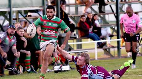 Rugby League, Maryborough - A grade. Hervey Bay Seagulls versus Isis Devils. Ethan West.