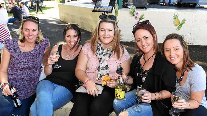 Relish Food and Wine Festival, Queens Park, Maryborough - Fiona DeGroot, Sherie Weeks, Michaela Davison, Haylee Onoprienko and Kiara Muggeridge.