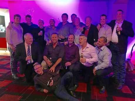 REUNION: The 1996 Queensland Cup-winning Toowoomba Clydesdales squad meets up for their 20th anniversary celebration last July at Rumours International.