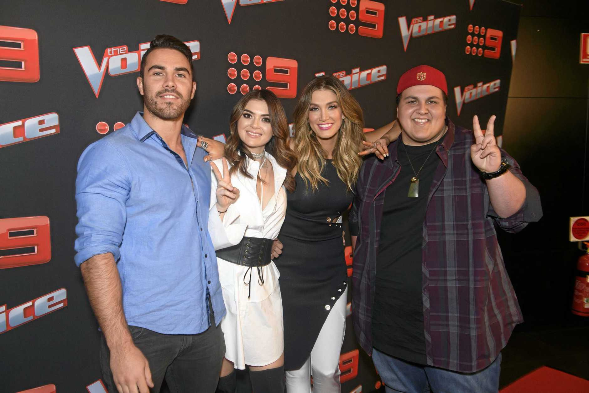TEAM DELTA: Tim Conlon, Claire Howell, Delta Goodrem and Judah Kelly.