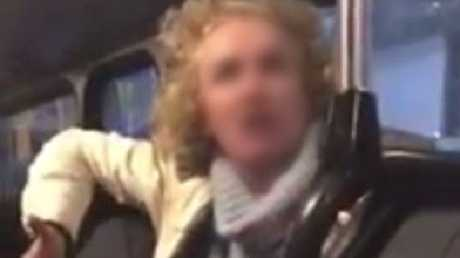 Footage of the woman's rant on a bus to Mona Vale from York Street, Wynard was captured on video.