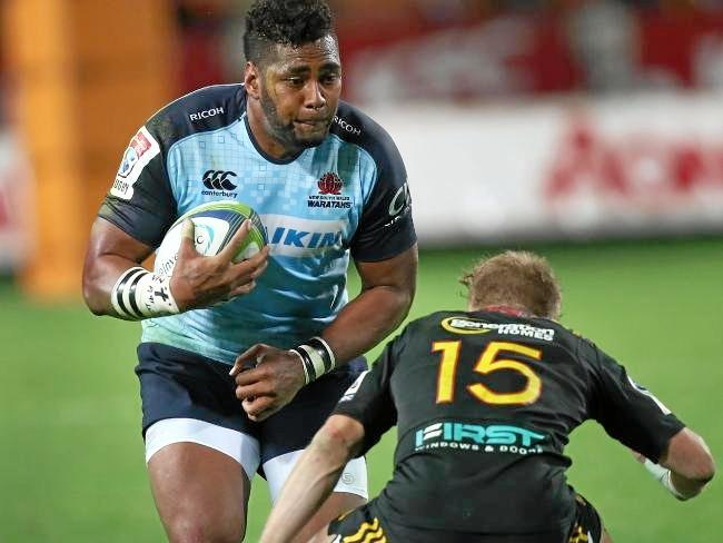 Taqele Naiyaravoro tries to burst through the Chiefs defence. Photo:AAP