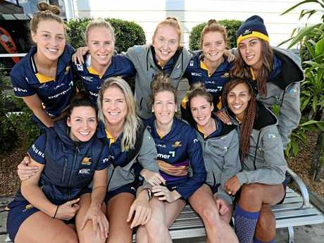 Sunshine Coast Lightening players return home from Melbourne. Picture: Annette Dew/News Corp Australia