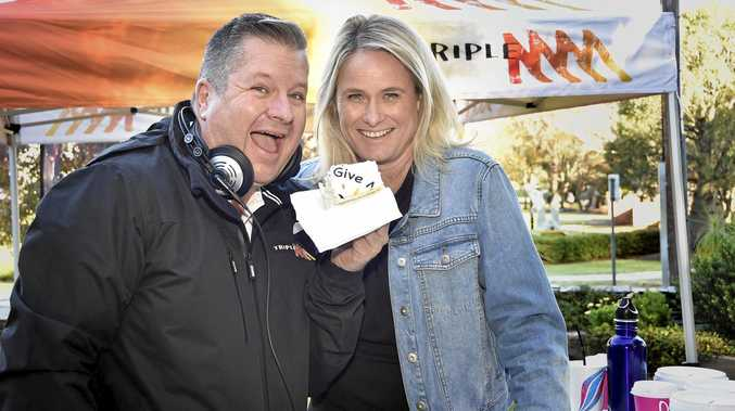 FUNDS FOR KIDS: Triple M announcer Lee Faulkner (left) and Toowoomba Hospital Foundation CEO Alison Kennedy launch the Give Me 5 For Kids Appeal.
