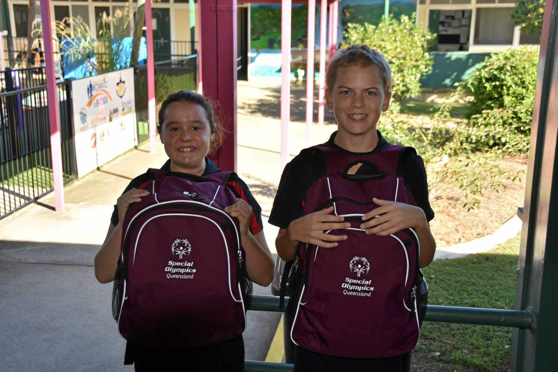 TALENTED: Iteeca Cleland and Levi Harris are off to the Gold Coast for the Special Olympics Junior Nationals Competition.