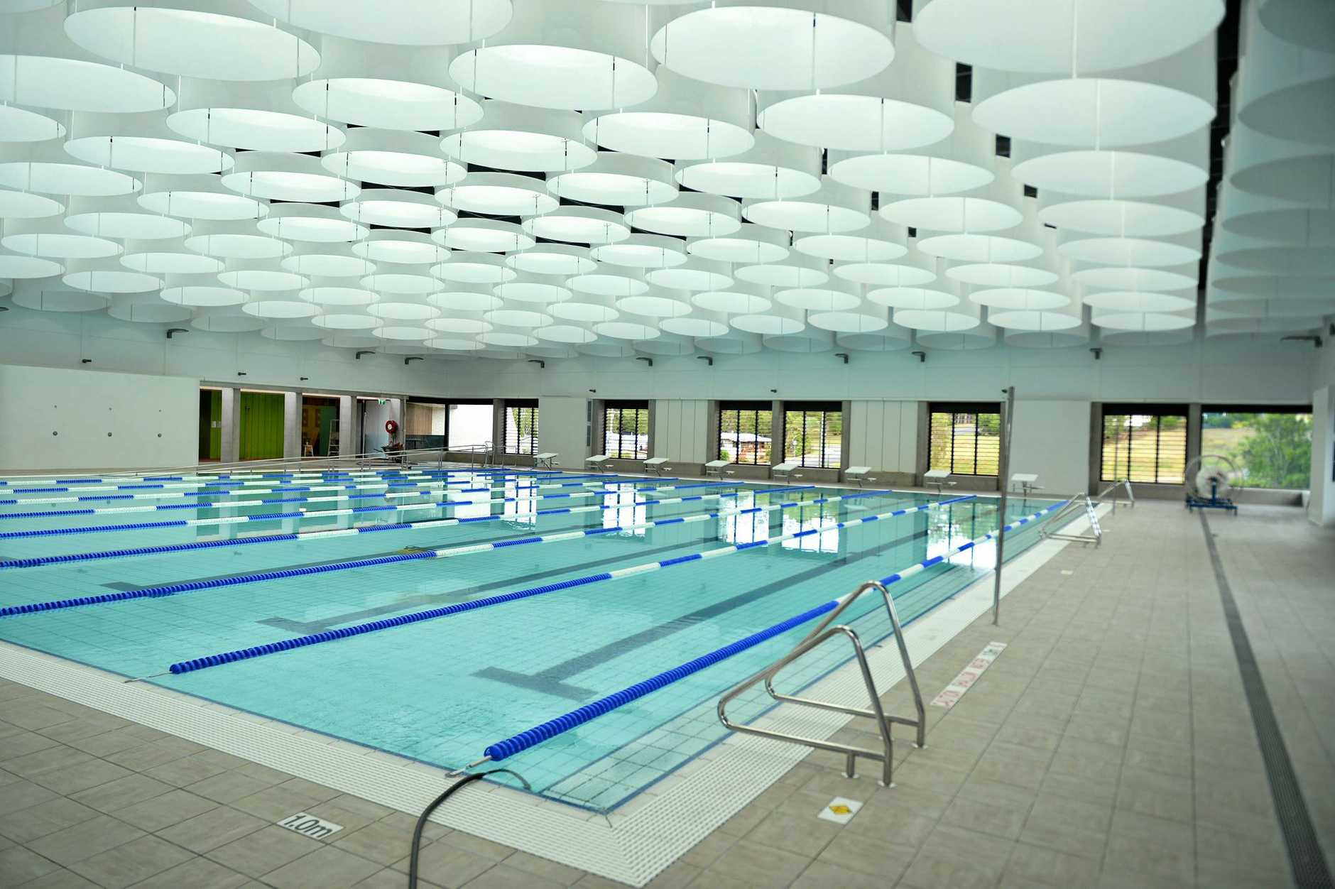 Gympie Aquatic centre almost ready for opening.