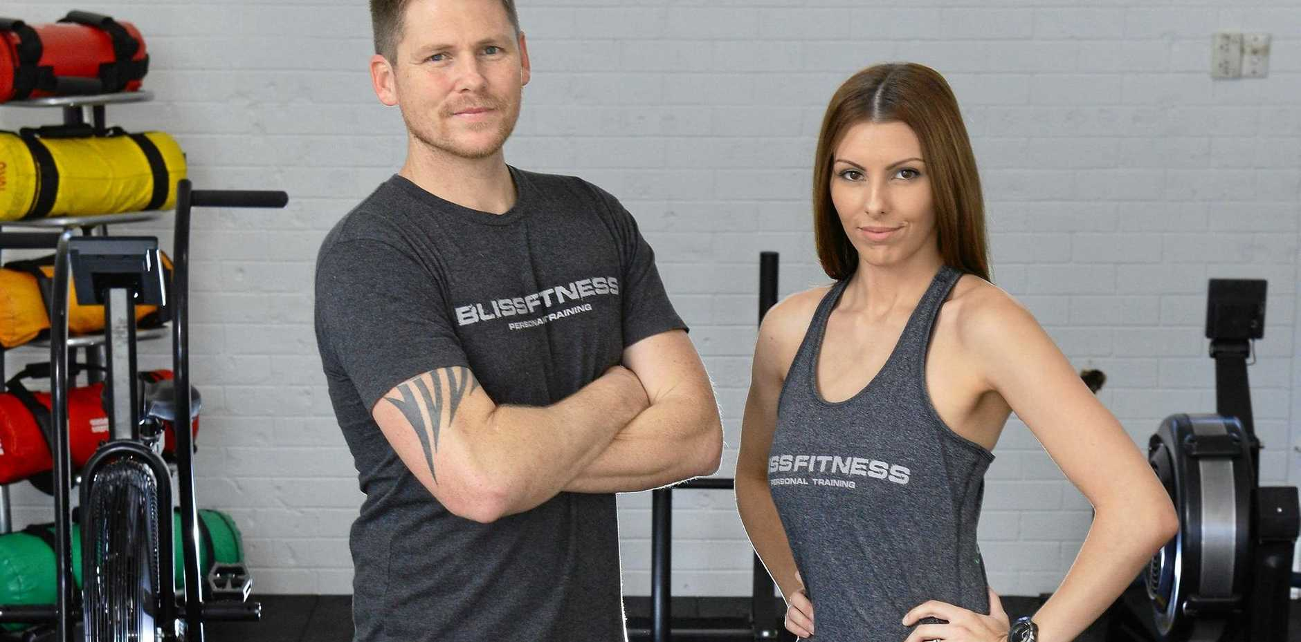 NEW VENTURE: Jessi and Josh Bliss have opened a new gym BlissFitness in the Top Of Town.