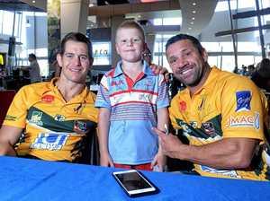 League legends brighten up fans' day at Riverlink