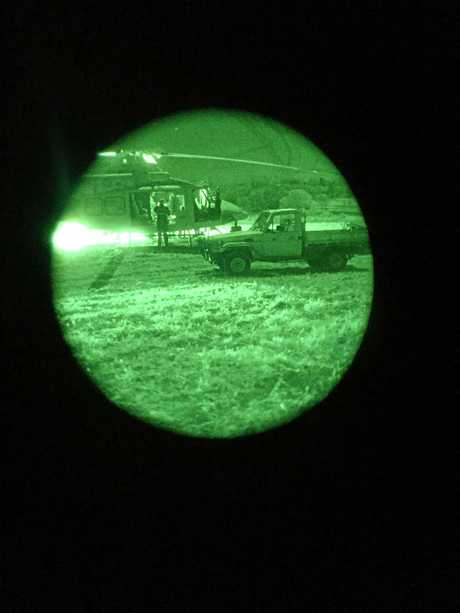 RACQ LifeFlight Rescue has used state-of-the-art night vision goggles to complete the rescue of a boy, 12, who broke his leg during a trail bike accident near Cooyar Sunday night.