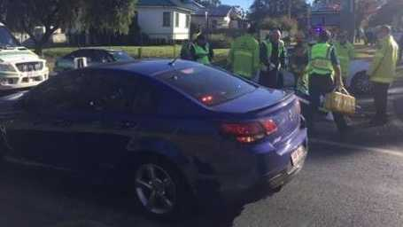 Paramedics transported a man to Toowoomba Hospital from the scene of a collision between an electric scooter and car in Centenary Heights this morning.