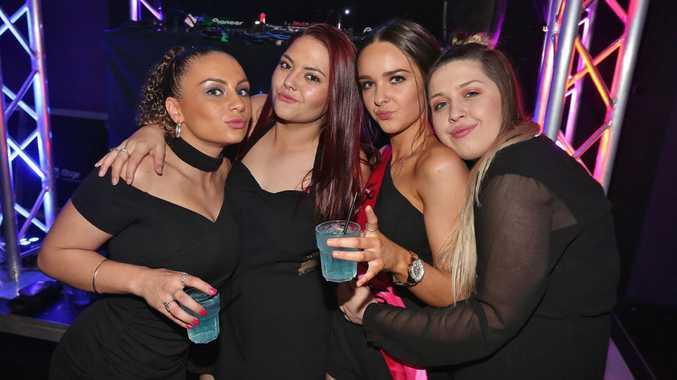 L-R Courtney Stubbins, Hayley Doyle, Mikayla Carter and Dannielle Hansen at Zodiac Nightclub.