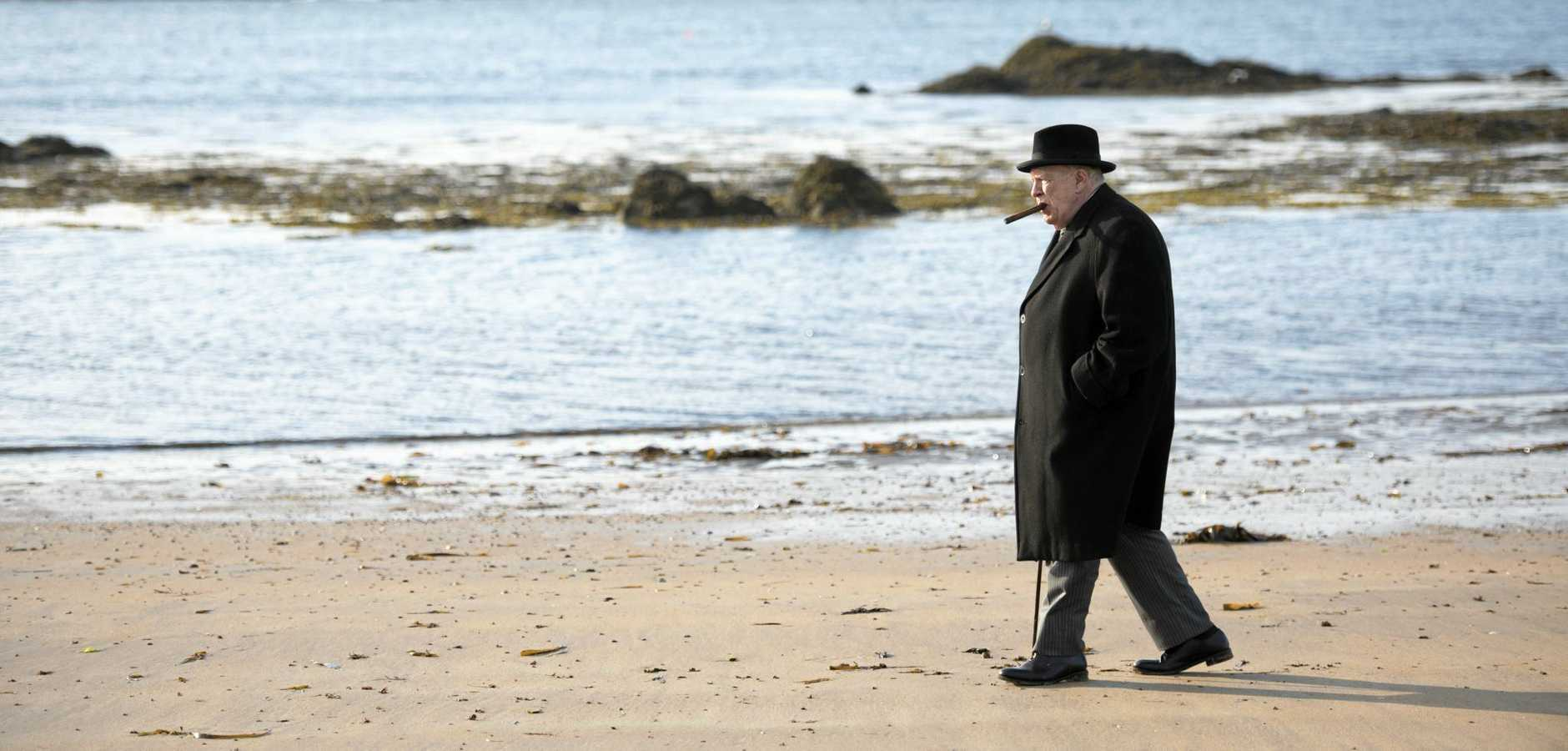 FOR REVIEW AND PREVIEW PURPOSES ONLY. Brian Cox in a scene from the movie Churchill. Supplied by Transmission Films.