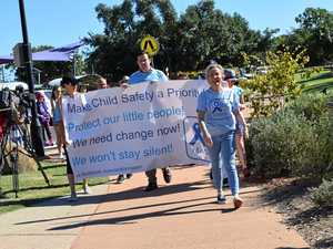 Child safety advocates walk for Mason in Rockhampton