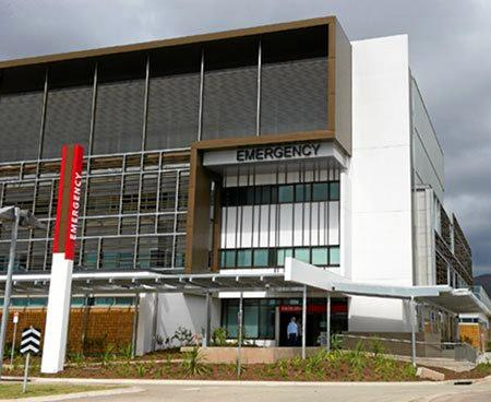 INJURED MAN: The Townsville Hospital where a Sarina man is being treated in a critical state.