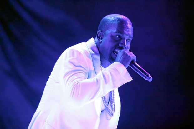 RAPPER: Kanye West performing at Splendour in the Grass 2011.