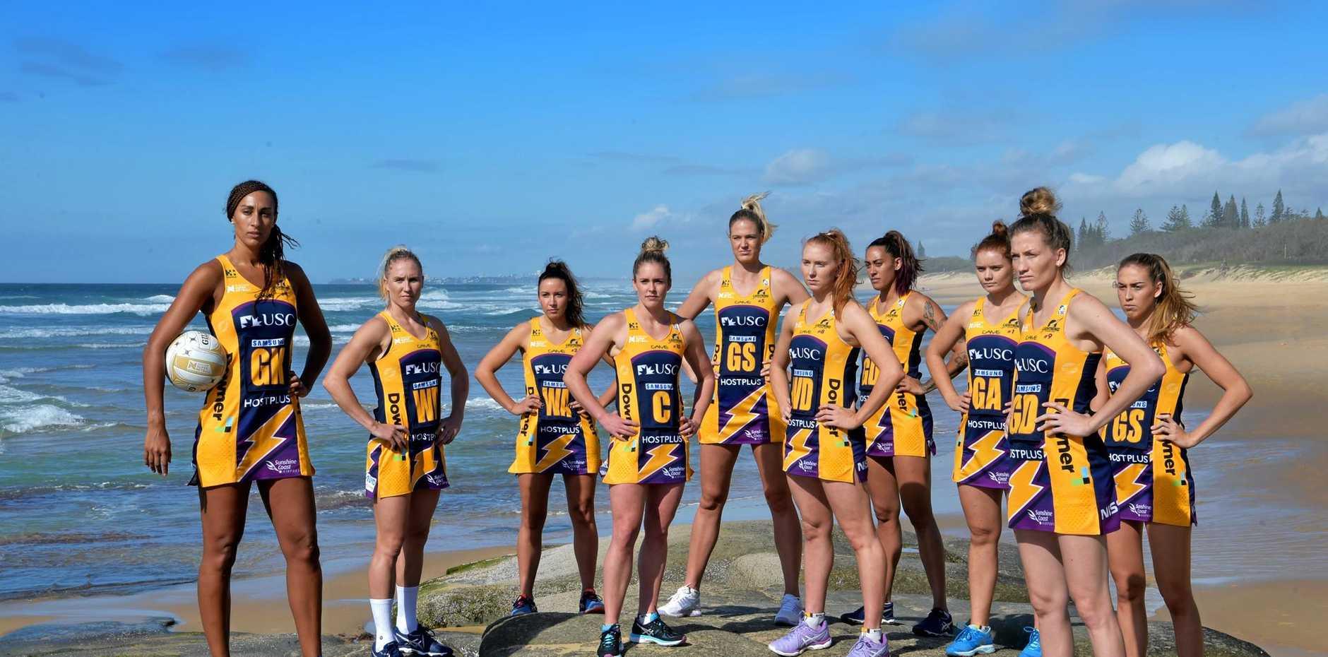 Sunshine Coast Lightning netball team ready for the finals.
