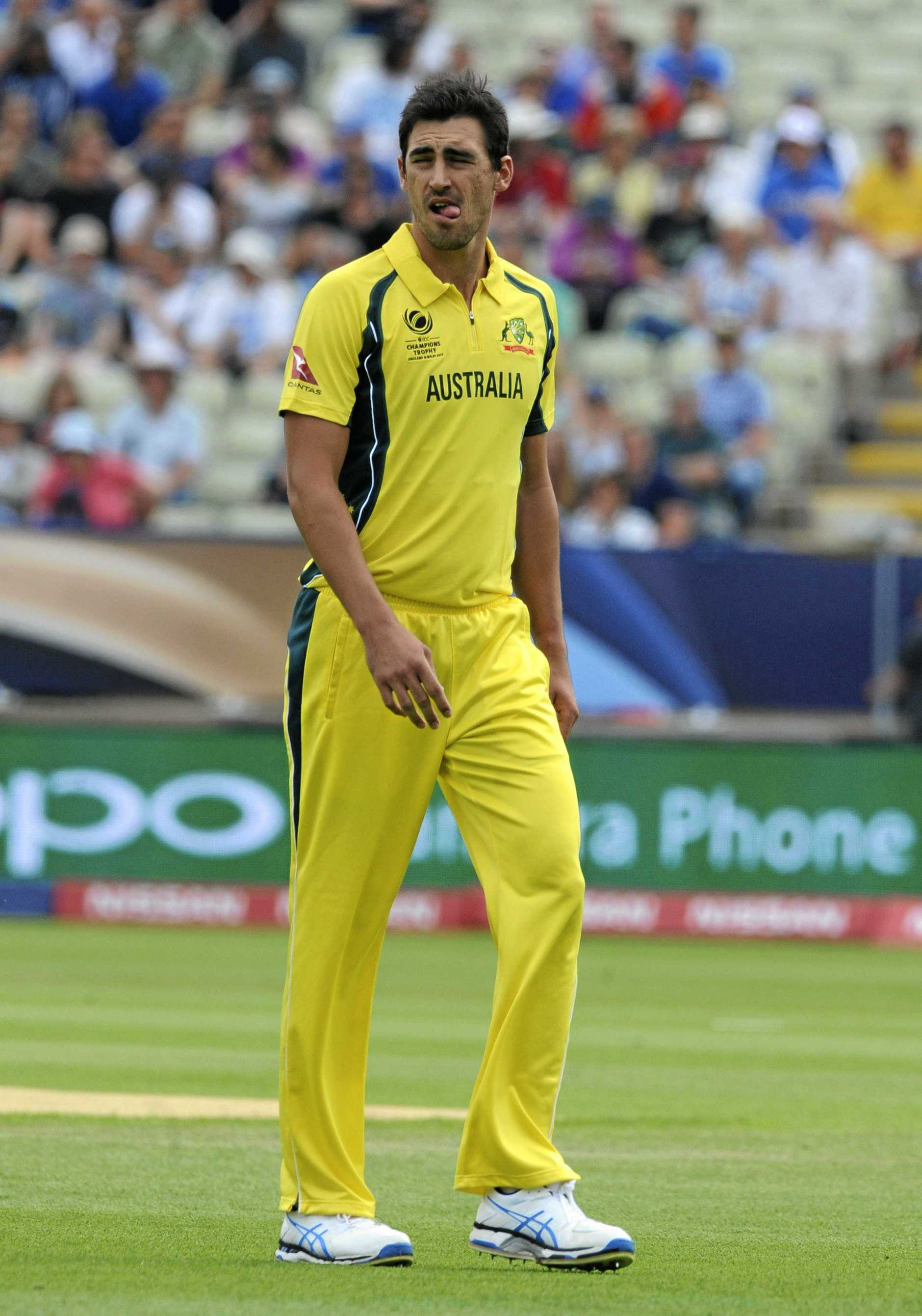 Australia's Mitchell Starc during the ICC Champions Trophy.