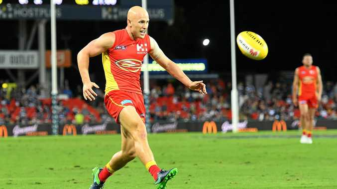 Suns player Gary Ablett during the round seven match against the Geelong Cats at Metricon Stadium.