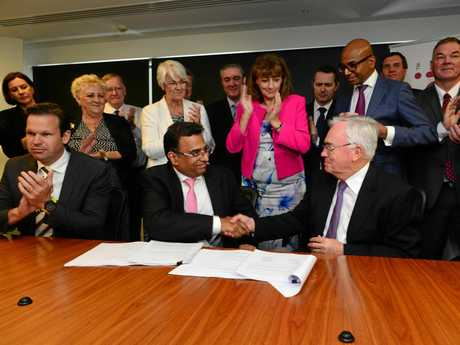 Contracts were signed this week for the go ahead of the Adani coal mine project.