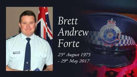 Vale Senior Constable Brett Forte.