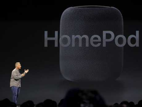 Apple's Senior Vice President of Worldwide Marketing Phil Schiller introduces the HomePod. Picture: Justin Sullivan/Getty ImagesSource:AFP
