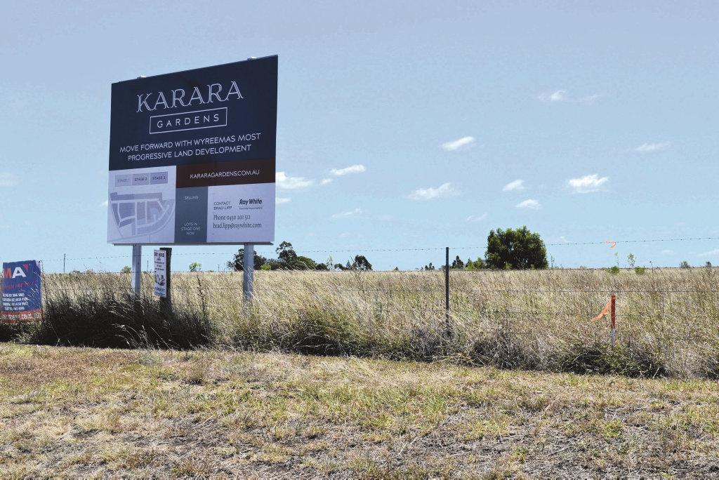 land development Karara Gardens at Wyreema. On the Toowoomba Karara Rd