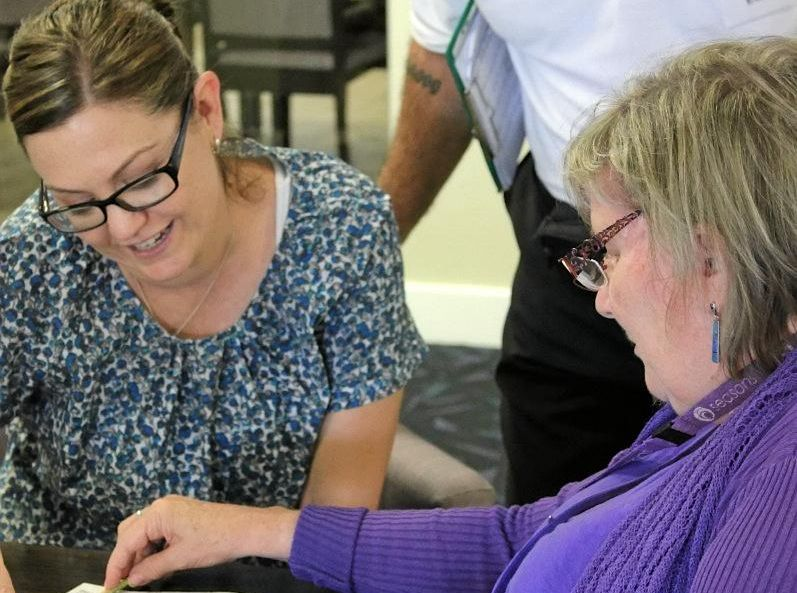 GOOD SUPPORT: An Envigor home carer with a client, one of 700 people looked after by the service throughout Queensland.