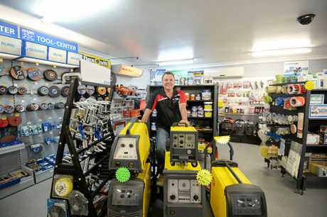 GREAT RANGE: Mick Shore Managing Director of Norstate Industrial Supplies shows off some of his stock.