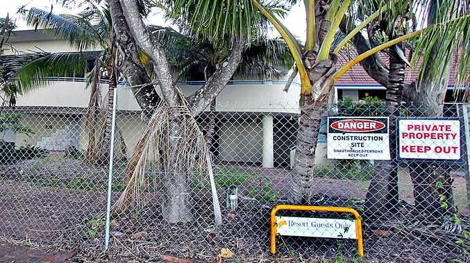 BOOM TO BUST: The old GKI resort still stands behind fences erected in 2008 after Tower Holdings bought and then shut the resort.