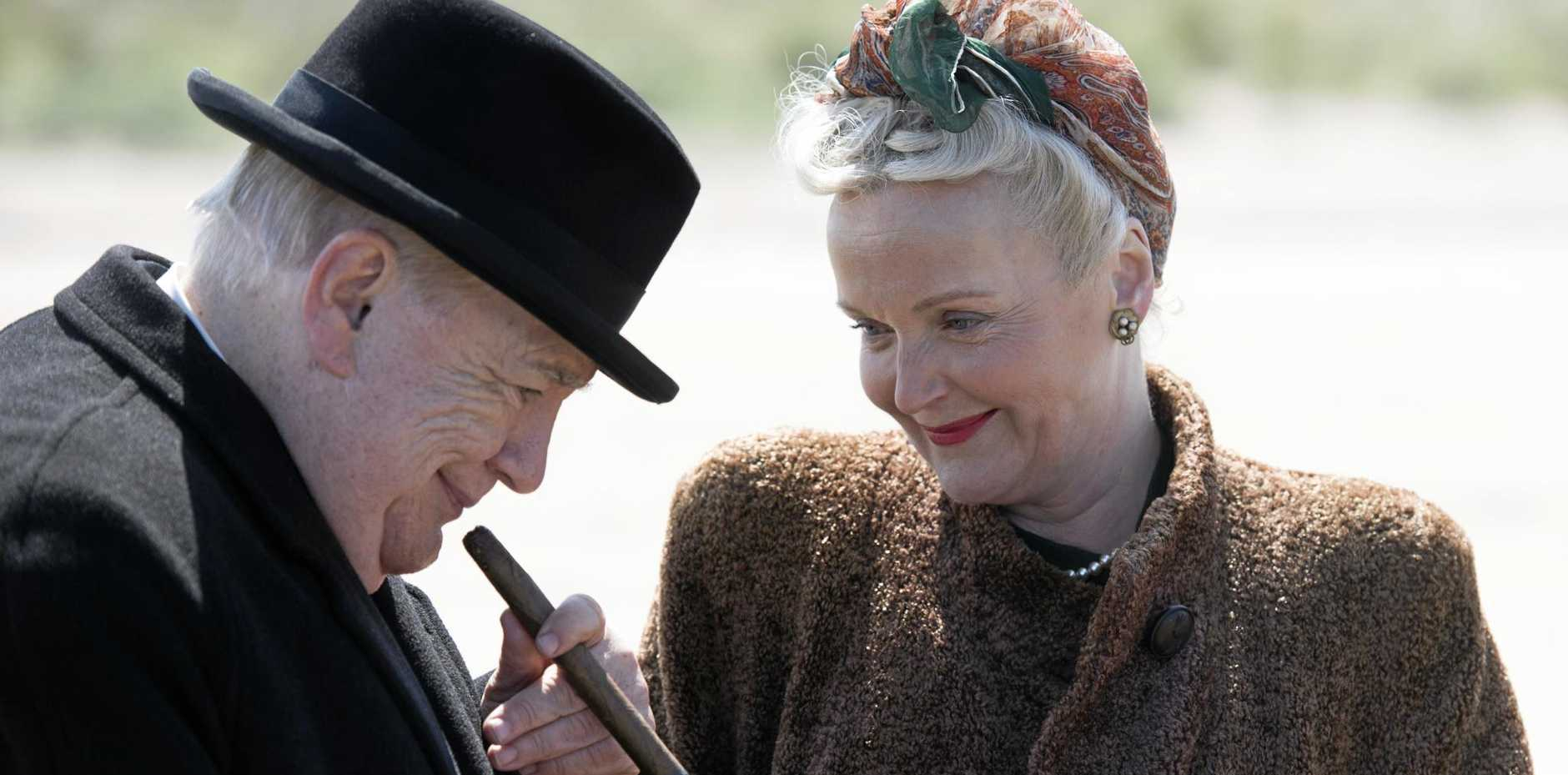 Brian Cox and Miranda Richardson in a scene from the movie Churchill.
