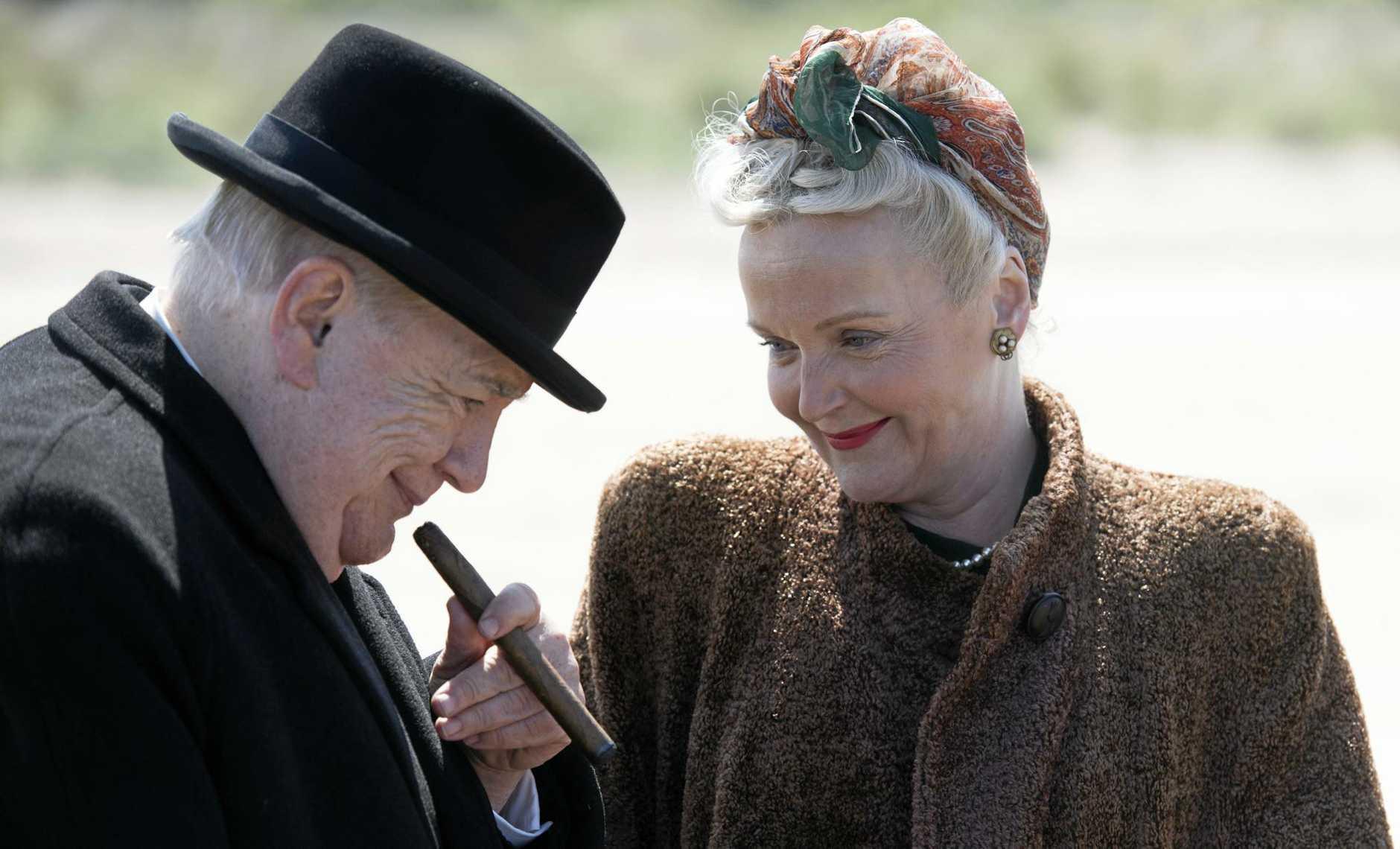 Brian Cox and Miranda Richardson in a scene from the movie Churchill.
