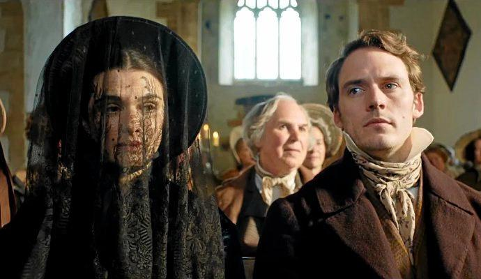 Rachel Weisz and Sam Claflin in a scene from My Cousin Rachel.