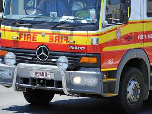 Fire covers Goodna in smoke