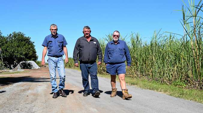 Growers Rex Stroppiana, Gary Parkinson and Andrew Barfield behind the grower's legal case.