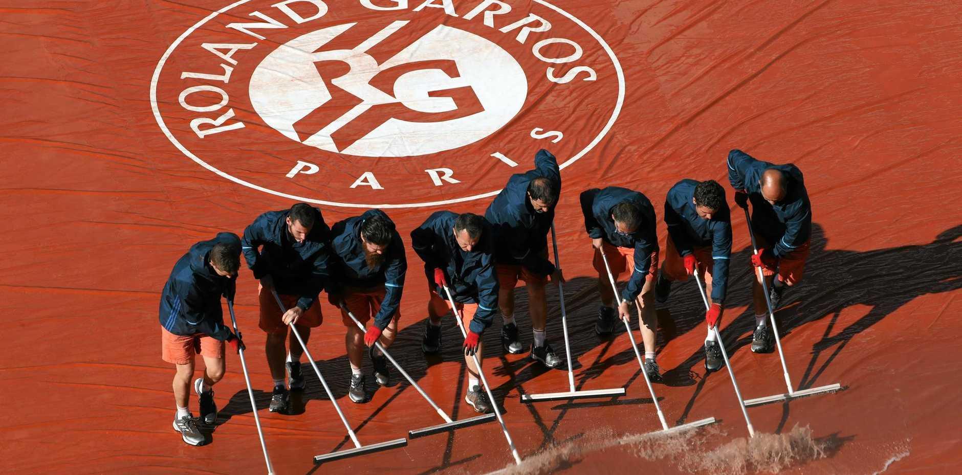 Staff at Roland Garros in Paris