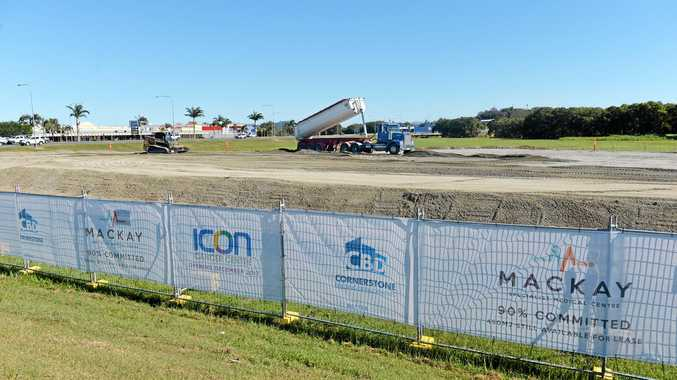 Earth works have begun on the site of the new Icon Cancer Centre on the corner of the Bruce Highway and Sams Road.