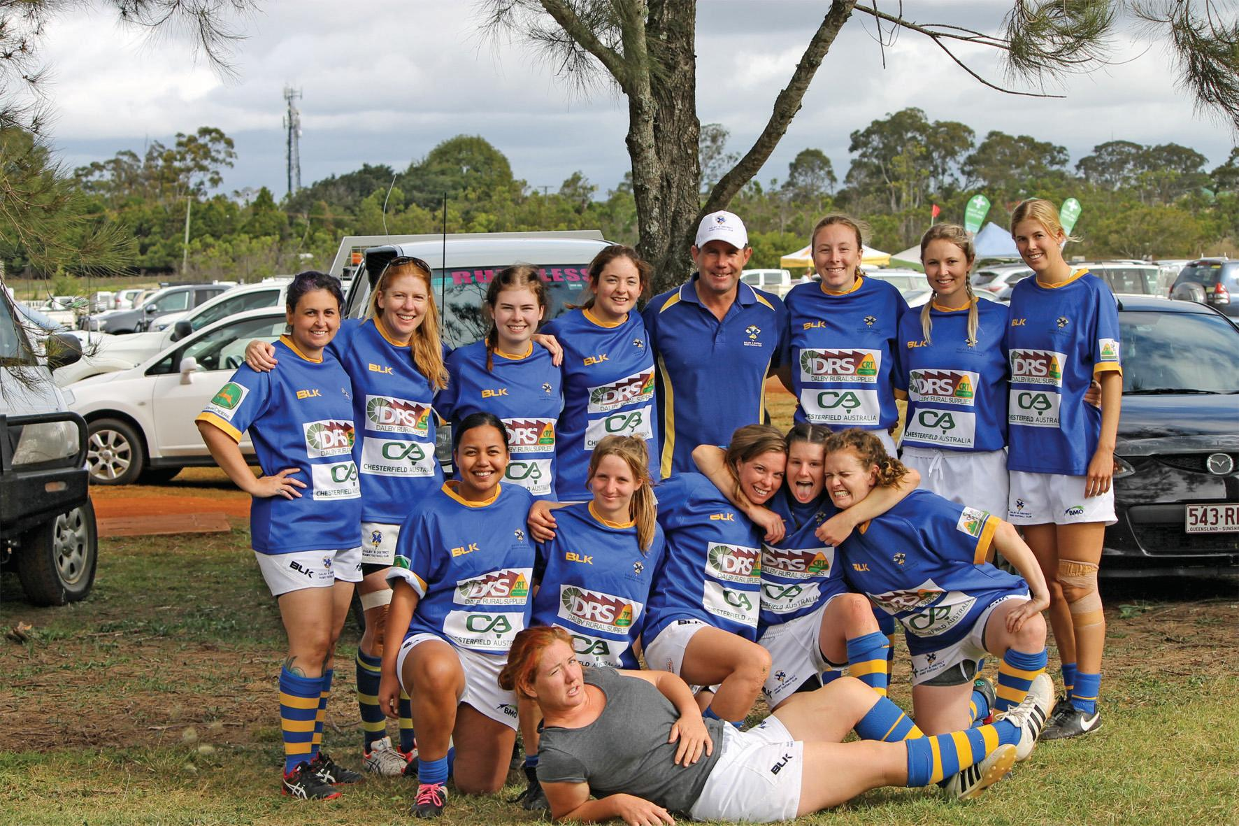 PIONEERS: The Dalby Whetchix rugby sevens team is leading the way for women's rugby in their region.