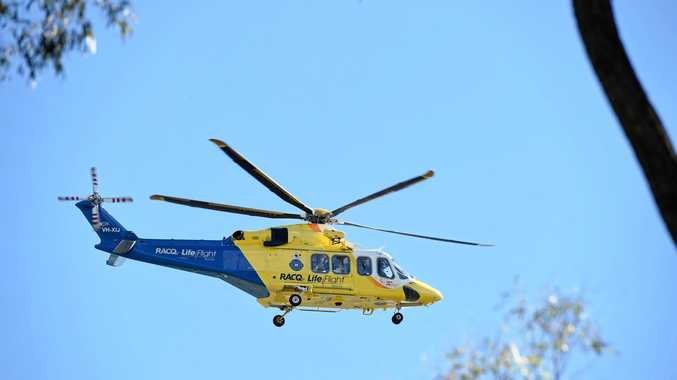 RACQ Life Flight helicopter.