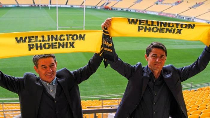 Darije Kalezic (right) will be assisted by Rado Vidosic at Wellington Phoenix next season.