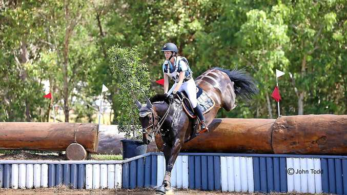 IN ACTION: Darling Downs rider Mattea Davidson on board APH Charlie Brown.