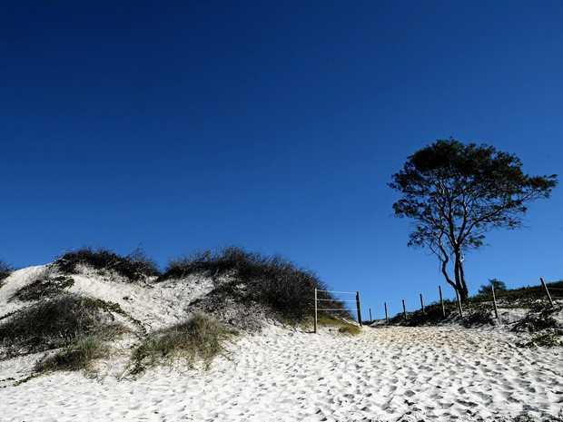 The beach between Belongil Beach and Brunswick Heads at Tyagarah.